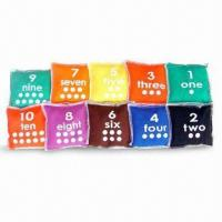 Buy cheap 4-inch Numbered Bean Bag, Made of Canvas Cloths with Plastic Pellets product