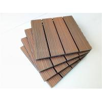 Mix color capped wood plastic composite deck tile 30s30 for What is capped composite decking