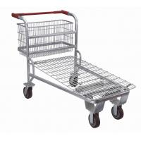 Buy cheap Custom Heavy Duty Warehouse Trolley Cart With Flat / Travelator Castor product
