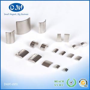 Buy cheap Nickel / Zinc Plating Neodymium Arc Magnets N35 - N52 Grade NdFeB Material product