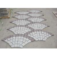 Buy cheap Red Porphyry G603 Decorative Landscaping Stone Driveway Paving Stones Fan Shape product