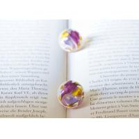 Buy cheap Forget-Me-Not Purple Earing Stud Cute Korea Style Women Loved Ball Earrings With Best Quality product