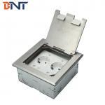 Buy cheap silver dual 2 pin power flip up floor socket box product