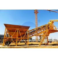 Buy cheap Movable Engineering 750L YHZS35 Cement Concrete Batching Plant product