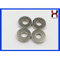 Buy cheap Rare Earth Ring Shaped Magnet , Permanent Big Ring Magnet With Nickle Plating product