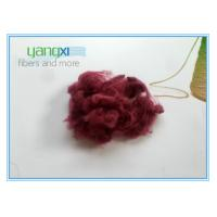 Red Dyed Staple Fiber Polyester 1.5D * 38MM With Semi Dull Luster