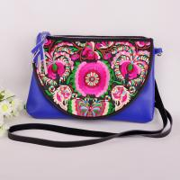 China 2014 Hot Selling Genuine Leather messager bag embroider bag on sale
