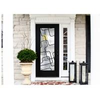 Buy cheap Natural Lighting Elegant Inlaid Wrought Iron Door Glass For Building Hand Forged Dignified product