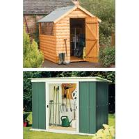 Buy cheap 8x8ft powder coated metal garden shed product