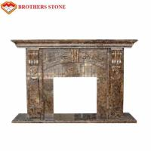 Buy cheap Luxury Polished White Natural Stone Fireplaces , Limestone Fireplace Surround product