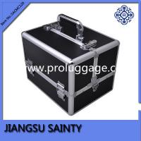 Buy cheap Promitional black PVC case makeup vanity box product