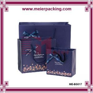 Buy cheap Paper Bag,Paper Gift Bag For Sale,Christmas Brown Paper Dark Blue Paper Gift Bag ME-BG017 product
