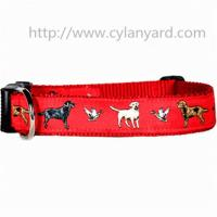 Buy cheap Jacquard ribbon polyester dog collars with ABS side release buckle, premium quality, product