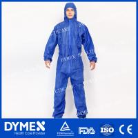 Buy cheap Type 5/6 Antistatic Breathable Navy Blue Safety Coverall for Asbestos Removal product