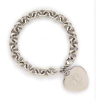 Buy cheap Stainless Steel Heart-shape Medical ID Tag product