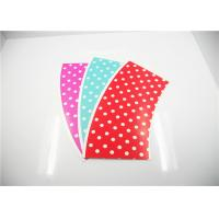 Buy cheap Red / Blue / Pink Polka Dot PE Coated Paper Cup Fan With Plastic Lid product