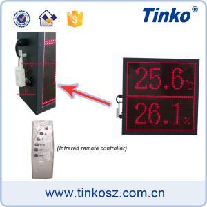 Buy cheap Digital dot matrix led-time monitor digital wall clock, LED Display Board Temperature product