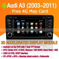 Buy cheap Audi A3 2003-2011 Android Auto Radio DVD Player with GPS Navigation Wifi 3G Digital TV RDS CAN Bus product