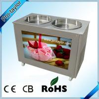 China Thailand style Roll fry ice cream machine with double pans on sale
