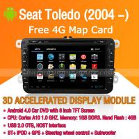 Buy cheap Android Car DVD Player GPS Navigation Wifi 3G for Seat Toledo Bluetooth Touch Screen product