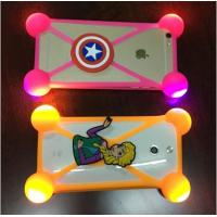 Buy cheap Hot Sale Universal Silicone Phone Case 3D Cartoon LED Flash Light Phone Cover For Iphone Accessories product