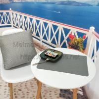 Buy cheap synthetic raffia,microfiber,11.8*17.71 inch,Grey,green,gold,blue,Outdoor Fabric Placemats For Round Table product