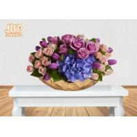 Buy cheap Gold Leafed Fiberglass Flower Serving Bowl Decorative Table Vases Boat Shape product