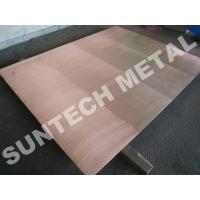 Buy cheap Explosion Bonded 316L Copper Clad Tubesheet for Corrosion Resistance from Wholesalers