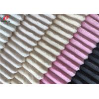 Buy cheap Strip Design Soft Feel 100% Polyester Fluffy Fabric For Baby , 155cm Width product