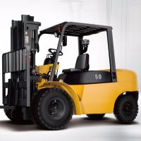 Buy cheap 4 Wheel Diesel Forklift Truck 5 Ton 2240mm Turning Radius With Pneumatic Solid Tyre product