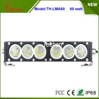 Quality New products 12V 24V 60w 11.5 inch slim single row led driving light bar for for sale
