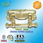 Buy cheap Size 22.5*13cm Ref H014 Gold Color Metal Coffin Handles Zamak European Design from Wholesalers