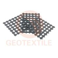 China PVC Coating Polyester Geogrid High Tensile 3.95m * 100m Size Soil Reinforcement on sale