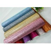Shoes Bags Wallpaper Glitter Fabric Roll Knitted Backing Technics 0.6mm for sale