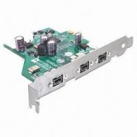 China I/O FireWire 800 PCIe with 3-port and Up to 80Mbps Data Transfer Rate on sale