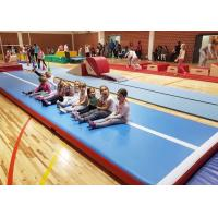 Buy cheap Outdoor Inflatable Air Track Gymnastics Mat / Inflatable Bouncing Mat Customized product