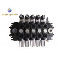 Buy cheap 120LPM 5 Spools Hydraulic Directional Control Valve Side Inlet 12-18 Months Warranty product