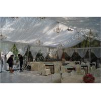 Buy cheap Backyard Transparent Outdoor Party Tents , Clear Party Tent Rentals With Lining Decorations product