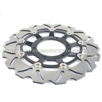 Buy cheap 310mm Motorcycle Brake Disc Rotors Laser Logo With Gold / Black Color product
