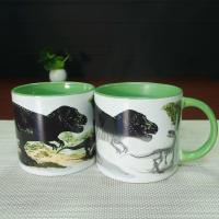 Buy cheap White Porcelain Dinosaurs Interior Glazed 14oz Color Changing Mug from Wholesalers