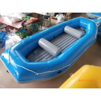 Quality Blue River Rafting Boat With Inflatable Floor / Raft Inflatable Boat for sale