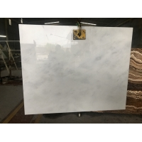 Buy cheap 600x300x15mm Semi White Jade Onyx Slab For Indoor Decoration product