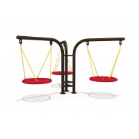 Buy cheap Outdoor Kids Play 1.8CBM Metal Swing Set With Slide product