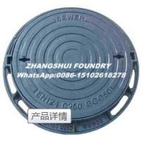 Quality Ductile iron manhole cover cast iton square and round EN124 manhole cover and for sale