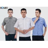Buy cheap Durable Police And Security Guard Uniform Mens Shirts With Two Pockets product