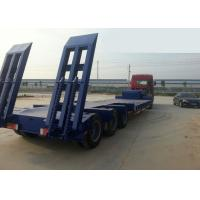 Buy cheap Low-bed Semi Trailer Truck 3 Axles 70Tons 15m for Loading construction machine product