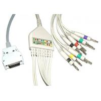 Buy cheap Surgical Plastic EKG Cable Long Screws Snap IEC With Defibrillation , Non - Toxic product