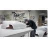 Buy cheap fiberglass bus body parts/fiberglass auto parts/FRP molded shell rear bumper from wholesalers