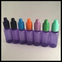 Purple 20 Ml Plastic Dropper Bottles , Health And Safety PET Ejuice Oil Dropper Bottle