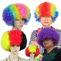 Quality Football Game Fan Wig 28*28cm Dacron Logo Customized Sports Supplies for sale